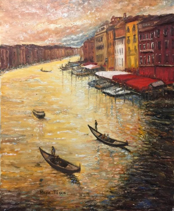 Hope Tian Art - Sunset of Venice