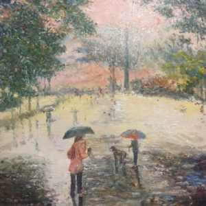 Rainy day in the park